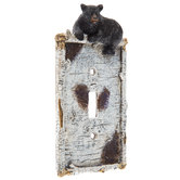 Black Bear Single Switch Plate